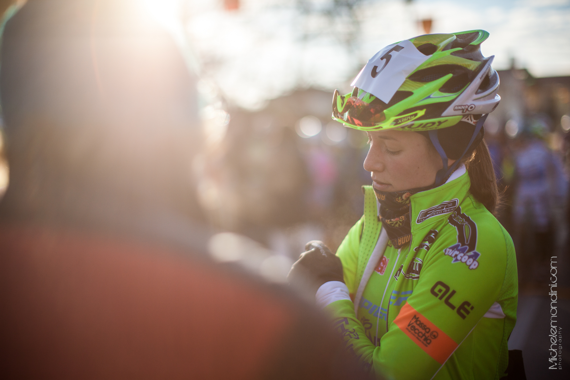 Anna Oberparleiter just before the start in Silvelle - Michele Mondini