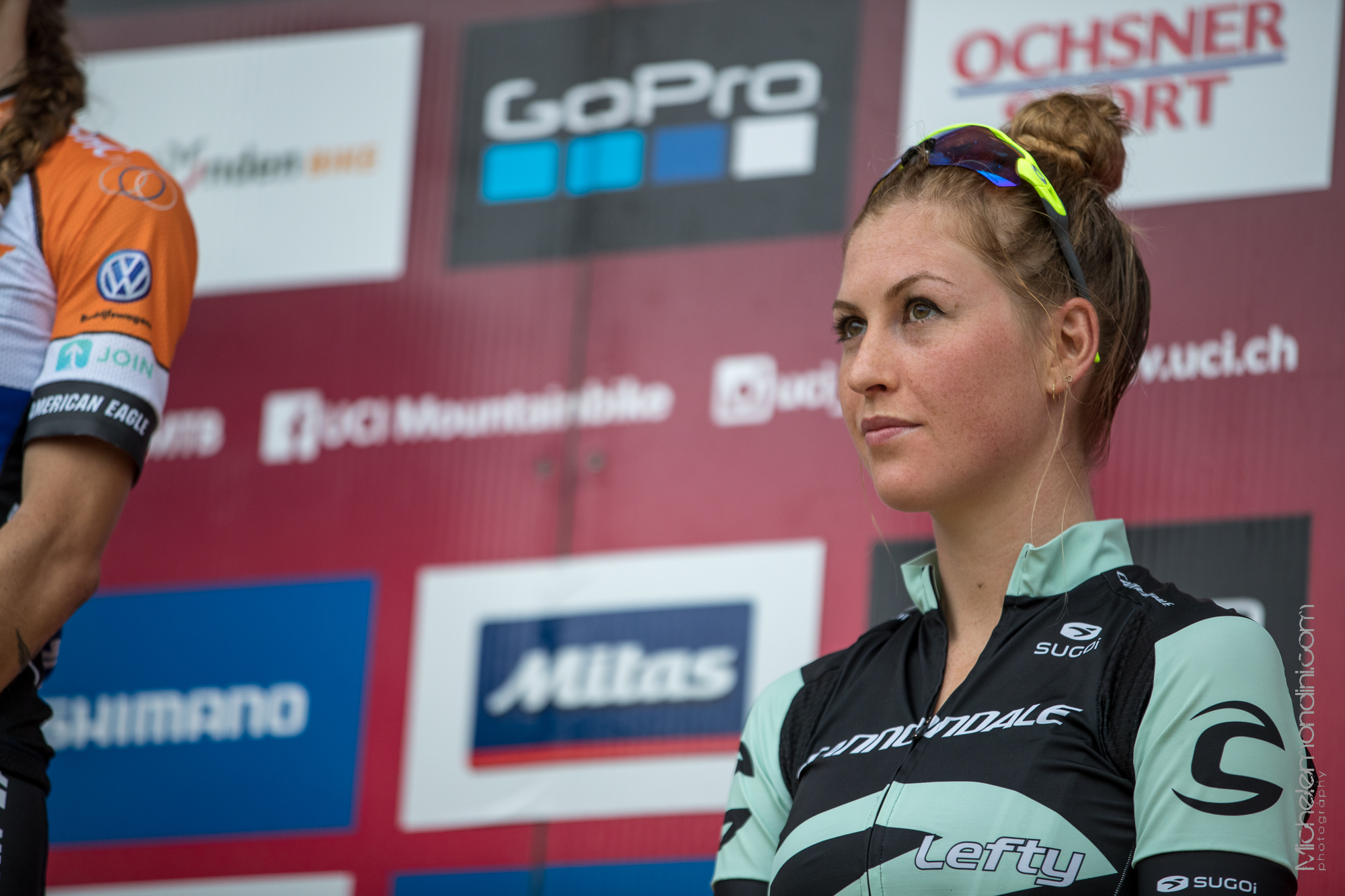 Helen Grobert on the podium in Lenzerheide - Ph: Michele Mondini