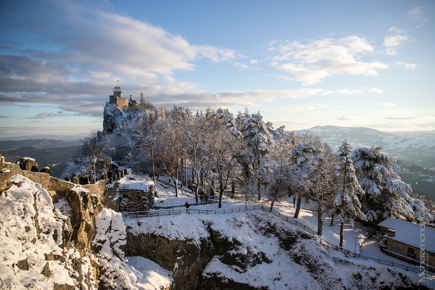A new project will bring me in San Marino in the next months. Winter view of the town. - Ph: Michele Mondini