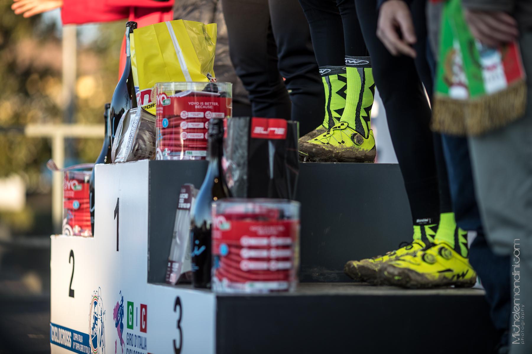 Northwave cyclocross podium in Silvelle. - Ph: Michele Mondini