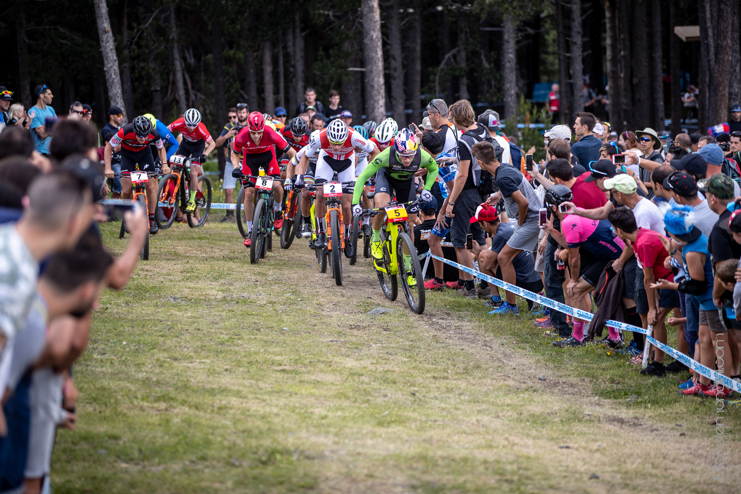 The peloton after the start leaded by Avancini - Ph: Michele Mondini